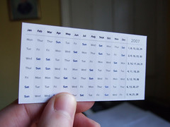 Calendar card - Design 2