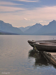 Boats on Lake (henx fotojam) Tags: lake mountains rockies boat montana centre visitor kalispell apgar