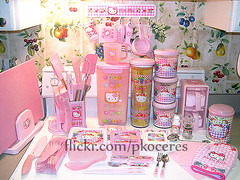 Hello Kitty Kitchen Goods (pkoceres) Tags: pink flower utensils cup kitchen japan fruit trash pepper rainbow strawberry rice hellokitty board salt knife fork spoon can pasta sugar sanrio container pot rack cutting shaker chopstick bento tongs hook flour canister utensil grinder spatula magnetic holder whisk peeler kitchenaid  silicone trivet cruet        boughtonebay        hellokittystrawberry hellokittyfruit hellokittyflower