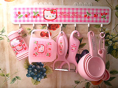 Hello Kitty Strawberry Kitchen Rack (pkoceres) Tags: pink cup kitchen japan strawberry hellokitty sugar sanrio cups rack shaker utensil spoons measuring peeler kitchenaid powdered peelers     boughtonebay      hellokittystrawberry