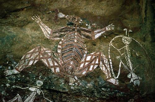 Аборигенские рисунки на скале