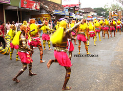 ENCHANTED RHYTM 23719 (Felix Francis) Tags: people india festival painting dance asia tiger culture kerala tigers ritual tradition ethnic onam thrissur paintedpeople pulikkalli dancingtigerpulikkalli