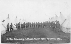 Soldiers at Spruce Camp Near Newport, Oregon, c. 1918 (RV Bob) Tags: camp usa oregon soldier army war uniform unitedstates military wwi logging tent worldwari newport worldwarone ww1 spruce firstworldwar armycamp 1918 worldwar1 sprucesoldiers sprucesquadron sprucesoldier sprucesquadrons