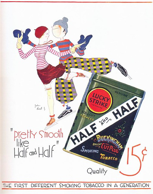 John Held Jr., Lucky Strike Half and Half Tobacco ad, 1927
