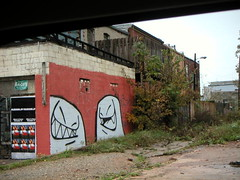 Cabbagetown graffiti (Christmas w/a K) Tags: city atlanta urban building art abandoned ga georgia underground graffiti town yahoo interesting artwork mural gorilla decay atl urbandecay gone memory cabbage derelict cy cabbagetown photowall guerilla urbanlandscape mrfangs guerillaart challengeyou challengeyouwinner cywinner yahoounderground