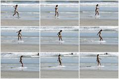 (S E B) Tags: galveston beach texas seawall sequence panning skimboarder sebastienettinger