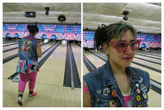 Bowling (Mixxie Sixty Seven) Tags: pink blue catchycolors diptych punk bowling newwave diptychs