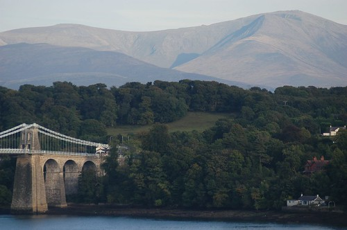 Menai Bridge and Snowdonia