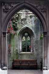 A Blind Gate (MykReeve) Tags: windows plants plant london church window stone bench arch ivy teamb cityoflondon stdunstans target07 lfsh281006