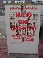 poster in the city of Amsterdam: Nuevo Cine Argentino