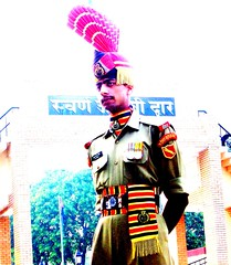 oct 22/23 2006 - an indian soldier @ wagha border...amritsar...#3 (_saurabh_) Tags: people colors religious temple gold golden sikh punjab goldentemple bhangra punjabi guru giddha gidha mutiyar