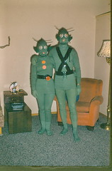 Happy Halloween! (LornaLou) Tags: green martian happyhalloween familyslide thesearemygrandparents backinthe50s