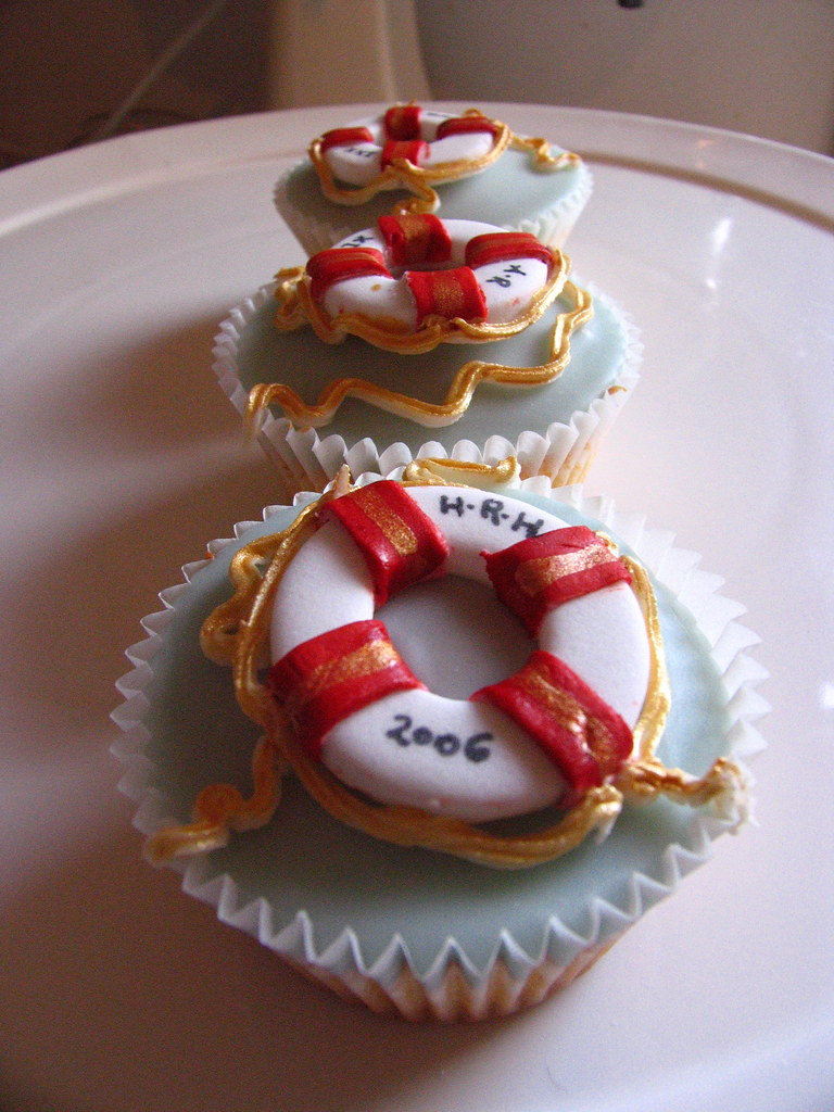 Nautical Themed Cupcakes designed for a magazine shoot!