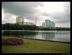 Apartment Buildings and Thang Cong Lake