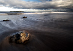 Toward Coquet Island (Ray Byrne) Tags: longexposure lighthouse beach water wow island coast bravo rocks north wideangle northumberland shore northeast amble wetfeet sigma1020 raybyrne nd8 coquetisland byrneoutcouk webnorthcouk