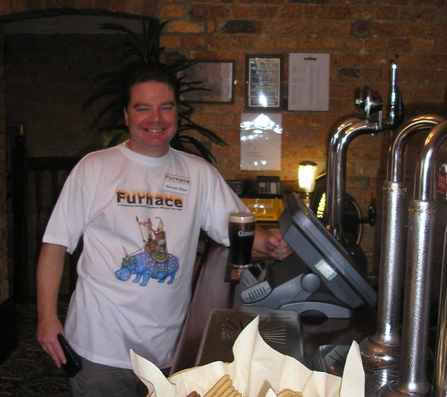 Darran at Furnace's very own bar