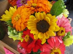 Bouquet (laurienrick) Tags: flowers summer farmersmarket 2006 sunflower bouquet fayetteville