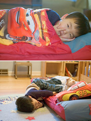 The bed (lorilea) Tags: family cars bed toddler child son sleepy dev aerobed