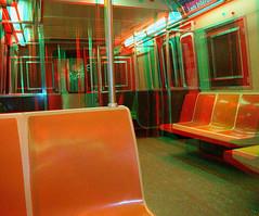 NYC Subway Car - anaglyph