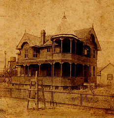 The Pritchard House, Shown ca. 1895 (Decrepit Telephone) Tags: old house sepia florida antique photograph restoration fl titusville comparison fla 1890s 1891 pritchardhouse northbrevardheritagefoundation