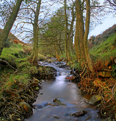 A Fuller  View,  Autostitch. (Tall Guy) Tags: uk longexposure england water 1025fav canon river landscape photography photo waterfall stream photos beck britain yorkshire photograph waterfalls enjoy squareformat northyorkmoors waterblur tallguy abigfave waterfallpictures loskeybeck waterfallphotography