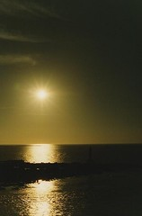 13.跨海大橋上的夕陽