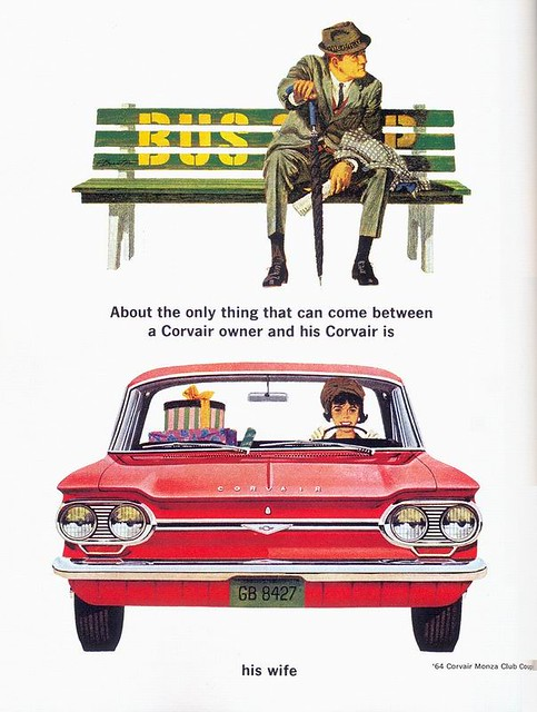 Corvair ad, 1964