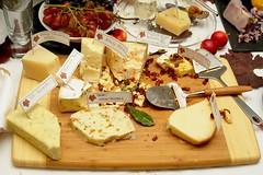Cheese Two (J R Webb) Tags: cheese dill board 2006 bamboo grapes apples slate seagate havarti winecheeseparty jrwebb asagio jimwebb smokedmozzarella jimrogerwebb bergenostpappadew