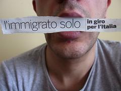 l'immigrato solo in giro per l'Italia