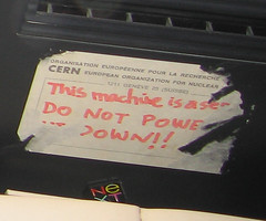 Do Not Power Down This Machine: It Is The Internet (sbisson) Tags: first www next cern server webserver timbernerslee