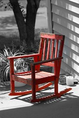 Child's Red Rocker ~ 1st Page (javame) Tags: wood old red childhood chair nikon antique indiana rocker d200 rockingchair excellence oldpaint fromthearchives yougotit nikond200 plus4 redrocker nikonstunninggallery selectcolors plus4excellence childsrocker invitedphotosonlyplus4