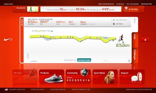 Nike+ distance