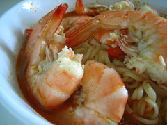 Tom Yam Prawn Noodle Soup (Food Trails) Tags: soup interesting prawns homemade noodles foodtrails homecooked homestyle homecooking comments tomyam 2favourites