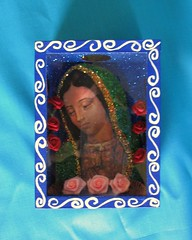 Guadalupe shadow box (Teyacapan) Tags: guadalupe religiousart mexicanfolkart