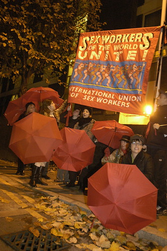 Sex Workers Unite protest in London