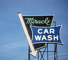 Miracle Car Wash (suttonhoo) Tags: sign neon miracle carwash signage top20signs miraclecarwash