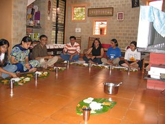 Purvi, Ushma, Arun, Anup, Champaka, Chetana and Anupama (Sai Sreekanth) Tags: food yahoo andhra