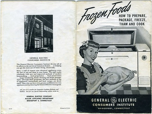 Vintage GE Consumers Institute Frozen Foods Booklet - 1940's