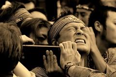 Real passion (manganite) Tags: portrait people men topf25 face fashion festival japan sepia digital geotagged asian japanese tokyo interestingness topf50 nikon topf75 shrine asia tl candid traditional snapshot shibuya style streetscene explore  nippon  d200 nikkor dslr topf100 matsuri nihon kanto mikoshi theface interestingness4 fav100 i500 18200mmf3556 utatafeature manganite nikonstunninggallery ipernity aplusphoto geo:lat=3566235796945576 geo:lon=1397007281716641 date:year=2006 date:month=september date:day=24 format:ratio=32