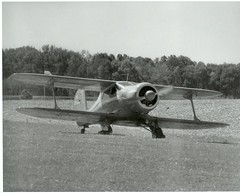 Beech Model 17 (mountlaurelphotographer) Tags: blackandwhite aircraft airshow beechcraft biplane staggerwing antiqueaircraft preworldwarii