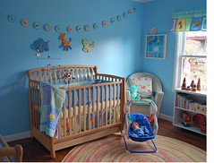 Tony's Blue Nursery (contrarymary) Tags: blue baby room nursery crib rug makeover babys blueroom babysroom boysroom babyboys babyboynursery bluenursery