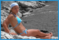 eleonora (marcovaleriof) Tags: sea vacation sun hot rock mare 2006 best bikini croazia vacanza hvar eleonora marcovaleriof
