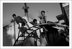 Children at play (Vivek M.) Tags: children bangalore streetlife atplay