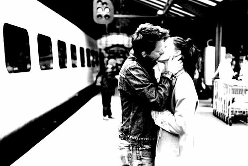 Candid Station Kiss