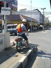 The Chad on Moped