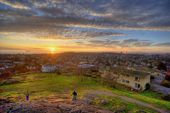 Sunset on Moss Rock (DARREN ST0NE) Tags: city trees houses sunset sea favorite sun canada color 20d rock canon macintosh eos moss interesting mac bc britishcolumbia canon20d bikes victoria explore fv10 photoshopcs hdr tanker orton photomechanic explored 5for2 darrenstone raziks20 hdrmeetsorton lightgazer