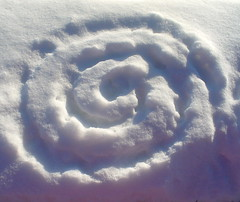 Found spiral (Lalallallala) Tags: snow spiral helsinki symbol foundart