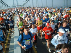 Marathon d New York : Verrazano Bridge by Martineric on Flickr!