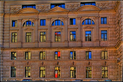 Facade (Matthias Hilf) Tags: vienna wien windows urban reflection building art architecture facade photography austria sterreich europe minolta highcontrast dynax oldtown hdr cladding mirroring lichtspiel burgtheater tonemapped top20vienna aplusphoto raziks20 efania