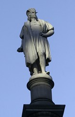 Christopher Columbus atop the pillar at Columbus Circle by NYCArthur, on Flickr